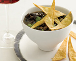 Black Bean Soup with Tortillas