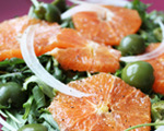Blood Orange, Arugula and Green Olive Salad