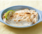 Broiled Fish Fillet with Spiced Mayonnaise