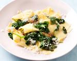 Broken-Up Lasagna with Garlic & Baby Spinach