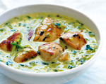 Caramelized Leek and Chicken Coconut Curry