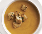 Carrot Soup with Chili Croutons