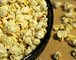 Cheesy Parmesan and Paprika Popcorn