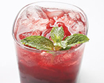 Cherry and Mint Cocktail
