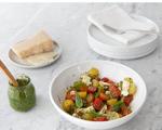 Cherry Tomato and Bocconcini Salad with Pesto