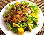 Chicken and Shrimp Salad with Fresh Mango Dressing