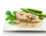 Chicken Cutlets with Pesto Cream Sauce