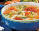 Leftover Chicken and Vegetable Soup