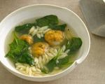 Chicken Meatball and Orzo Soup