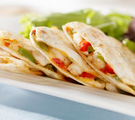 Hot and Spicy Vegetable Quesadillas