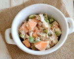 Zesty citrus melon chicken salad