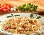 Chicken and shrimp carbonara