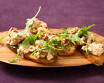Chickpea and Salmon Crostini