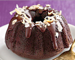 Chocolate-coconut mini bundt cakes