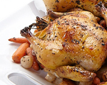 Cornish Hens with Pearl Onions and Carrots