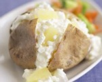 Cottage Cheese Stuffed Baked Potatoes