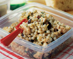 Couscous Chicken Salad with Olive Vinaigrette