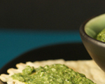 Crackers, eggs and pesto – oh, my!
