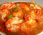 Crayfish Tails in Tomato Sauce
