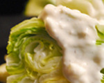 Crisp Iceberg Salad with Crumbled Blue Cheese