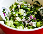 Cucumber, Onion, Parsley and Feta Salad