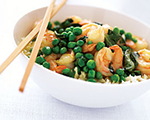 Curried Shrimp with Peas