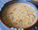 Dried Corn Chowder with Bacon