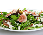 Fig and Prosciutto Salad with Arugula and Feta Cheese