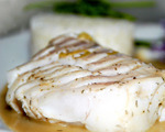 Fish Steaks poached in White Wine