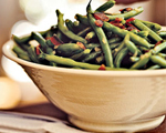 French Haricot Verts with Crumbled Bacon