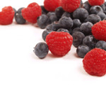 Fresh Berries with Rye Berries