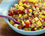 Fresh Corn and Olive Relish