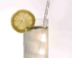 Fresh Lemon and Gin Fizz