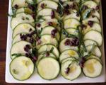Fresh Zucchini and Olive Salad