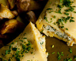 Goat Cheese and Fresh Herb Omelet