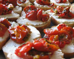 Goat Cheese on Tomato Bread