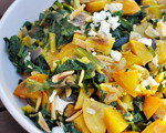 Golden Beet Salad with Greens and Almonds