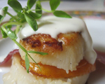 Greek Grilled Scallop and Apricot Sandwich Bites