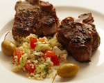 Greek Lamb Chops with Garlic and Lemon Zest