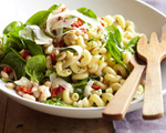 Greek Spinach-Pasta Salad with Feta and Beans