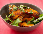Grilled Acorn Squash with Cilantro Mojo