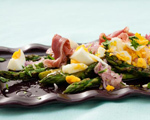 Grilled Asparagus with Prosciutto and Hard-Boiled Egg
