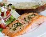 Grilled Salmon with Basil Butter