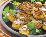 Grilled Scallops with Chutney Glaze