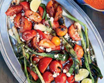 Grilled Tomato and Scallion Salad