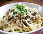 Mushroom Ham and Spaghetti