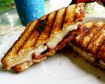 Gluten-Free Chutney Ham Sandwich on Toasted Raisin Bread