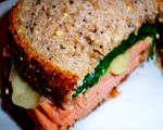 Gluten-Free Ham Swiss and Spinach Sandwich