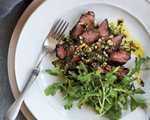 Hanger Steak with Herb and Nut Salsa