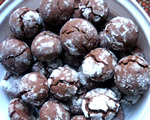 Hazelnut Crinkle Cookies